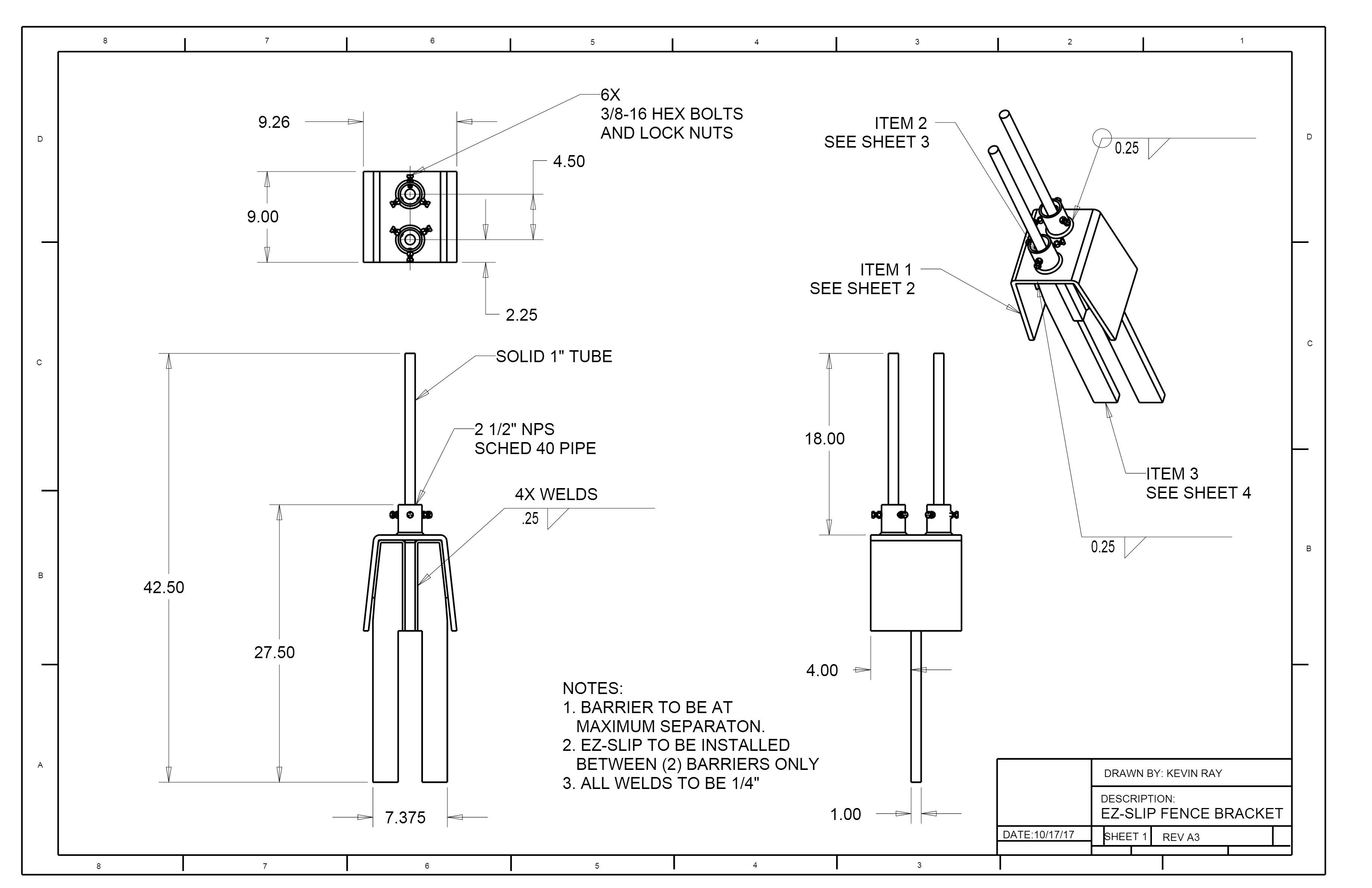 Ez Slip Specifications Jcny Industries Electric Fence Schematic Fences All Components Are Joined Using Welds And Designed To Fit In Between 2 J Hooks Concrete Barriers At Maximum Separation